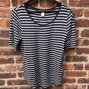 H&M Short Sleeve Striped Shirt